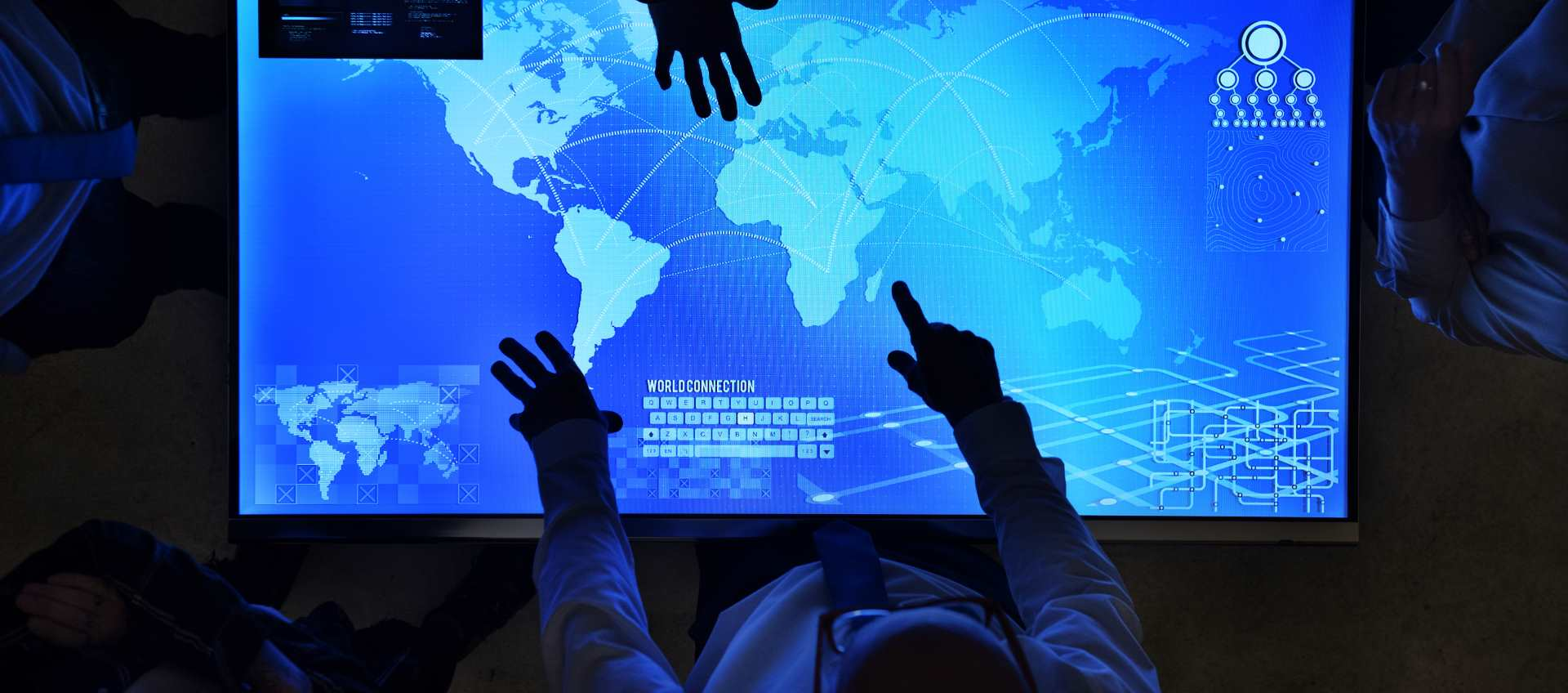 Contact Supply Chain Consultant View over backlit Global Supply Chain